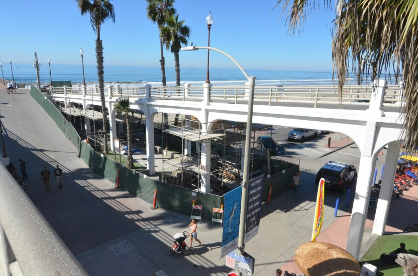 Repairs to Oceanside pier bridge that began this summer will cost more and take a little longer to complete.