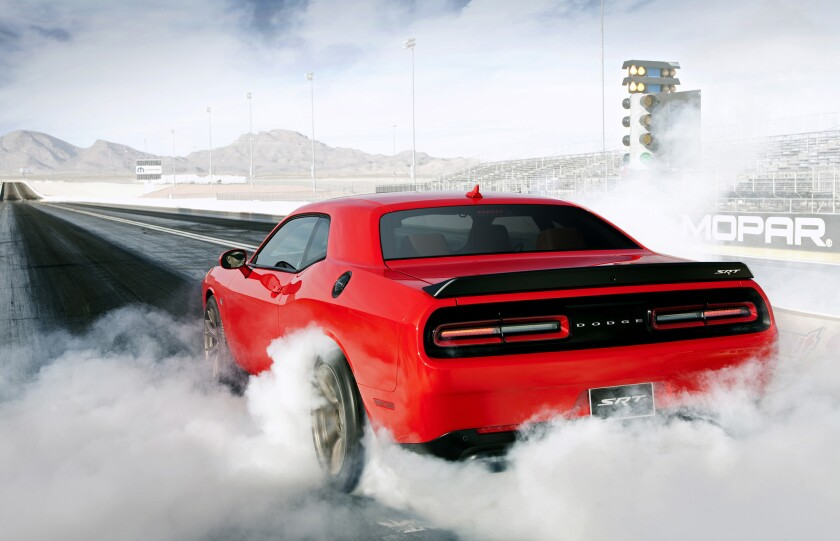 Dodge has told dealers to stop taking orders of its 2015 Challenger and Charger SRT Hellcats. (Andrew Yeadon/Dodge)