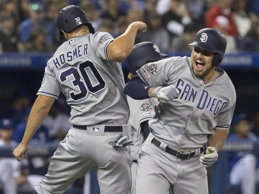 APphoto_Padres Blue Jays Baseball