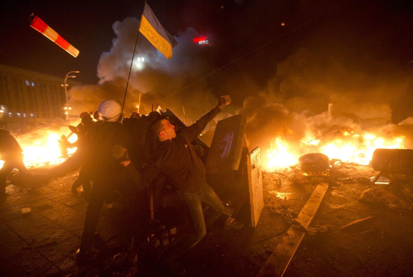 Protests rage in Kiev