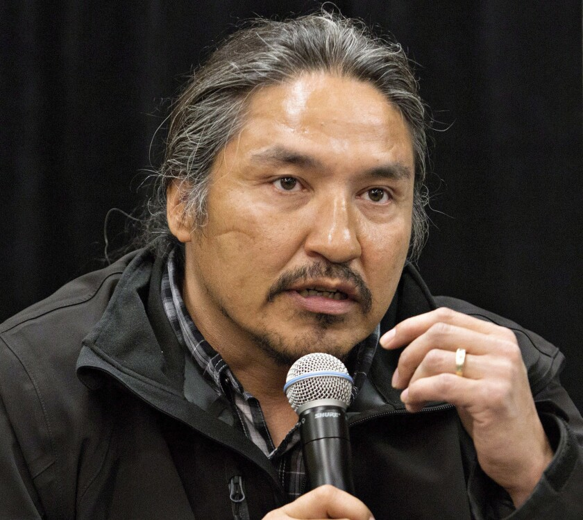 Chief Allan Adam of the Athabasca Chipewyan First Nation