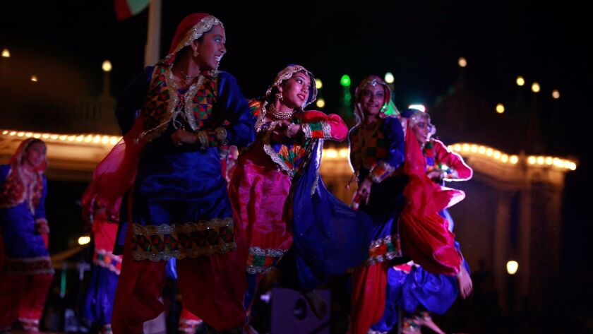 Dancers perform traditional Indian dances at the 8th Annual Festival of Lights-Diwali Celebrations Saturday in Balboa Park.