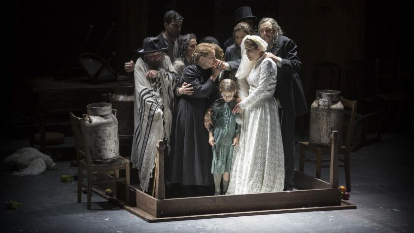 "A scene from Barrie Kosky's Komishe Oper Berlin production of ""Anatevka"" (""Fiddler on the Roof"")."