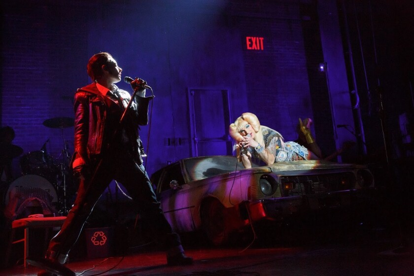 """Hannah Corneau (left) and Euan Morton in """"Hedwig and the Angry Inch."""""""
