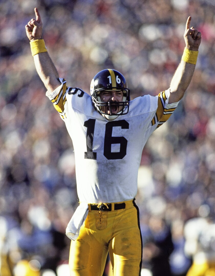 Mark Malone Quarterback for the  Steelers on 16th Dec. 1984 in l.a.  Rick Stewart/Allsport/Getty Images)