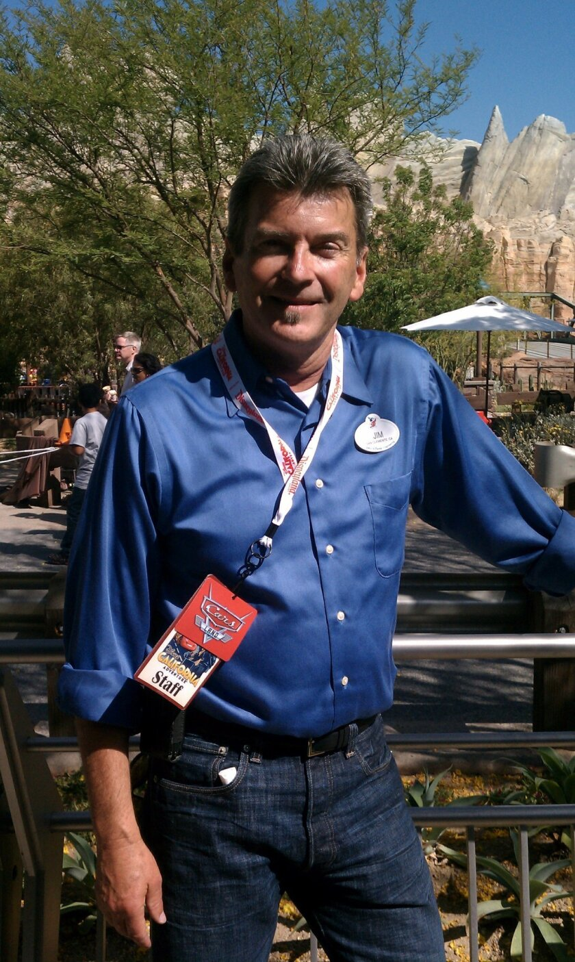 Jim Kearns was the project manager for the Cars Land addition and remodeling of the entrance to Disney California Adventure.