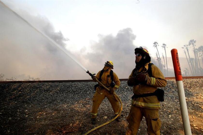 """El servicio forestal anunció hoy que los bomberos han dado por controlado el incendio """"Mendocino Complex"""", activo desde el pasado julio y considerado el fuego más grande de los registrados en la historia de California. EFE/Archivo"""