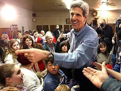 John Kerry in Laconia, New Hampshire