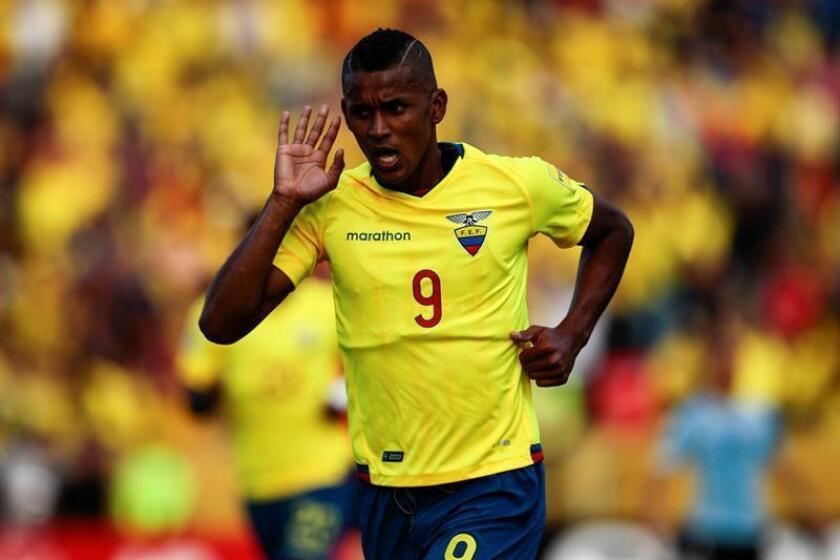 En la imagen, el jugador ecuatoriano Fidel Martínez. EFE/Archivo