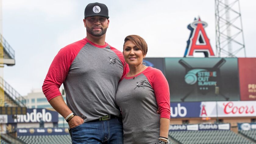 """Albert and Deidre Pujols created """"Strike Out Slavery,"""" an initiative to raise awareness and funds to fight human trafficking."""
