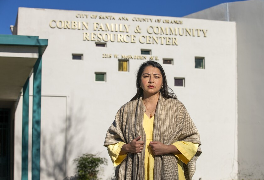 Ruby Godinez is the family resource center coordinator at the Corbin Center in Santa Ana.