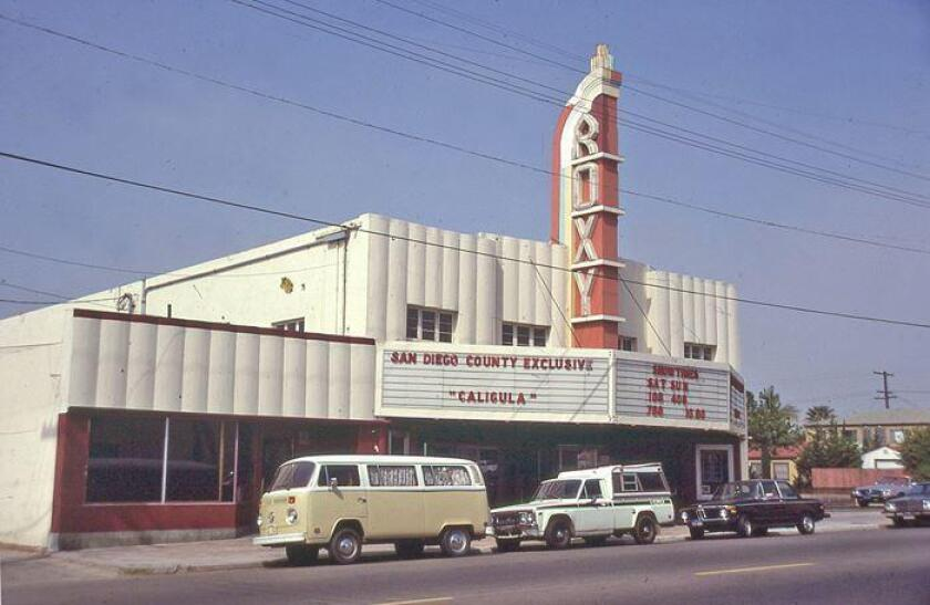 The Roxy Theater, where the PB Post Office stands today on Cass Street, photographed by John Fry in September 1980