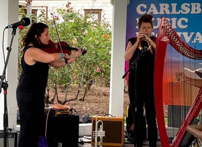Steph Richards Power Vibe performs at the Carlsbad Music Festival.
