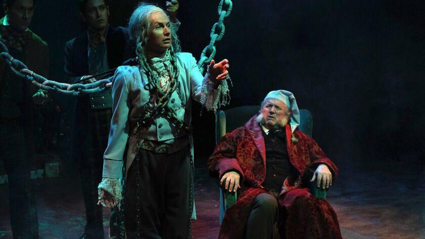 A Christmas Carol Ghosts.Review Cygnet Theatre S Fine Christmas Carol Keeps Giving