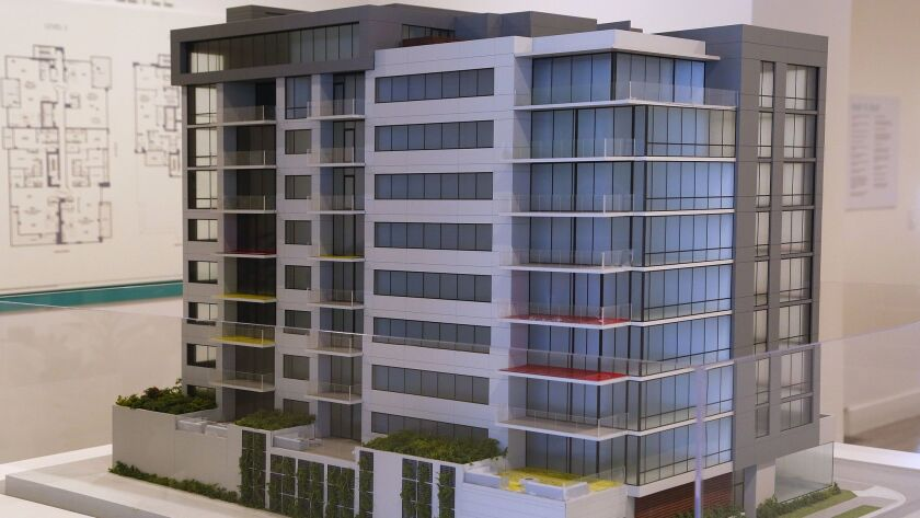 A model of 41 West in Bankers Hill.