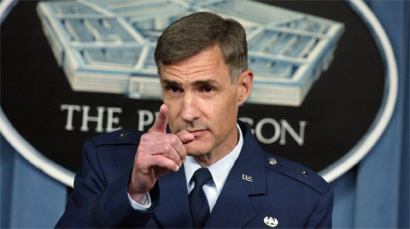 DECISIONS: Air Force Brig. Gen. Thomas Hartmann, a military commissions legal advisor, is one of the lawyers who will decide whether the cases can proceed to trial. The charges filed against the six alleged plotters would be the first capital cases against Guantanamo prisoners.