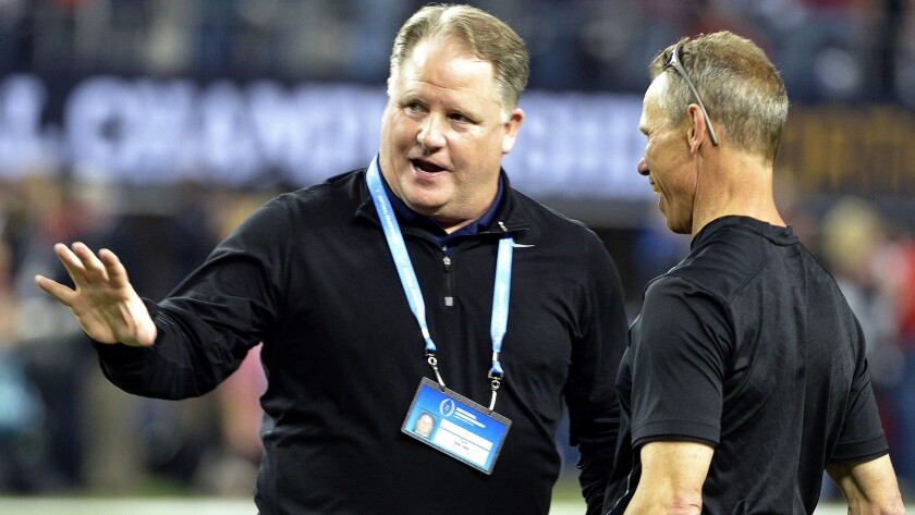 Chip Kelly had a record of 46-7 in four seasons at Oregon.