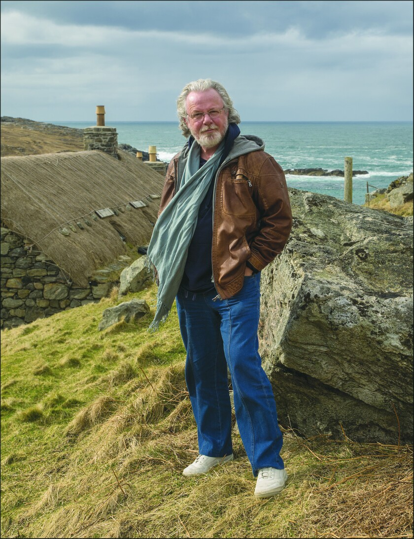 "Peter May, the author of ""Lockdown,"" in Scotland."
