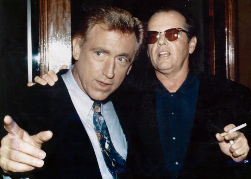 David Sheehan with actor Jack Nicholson.