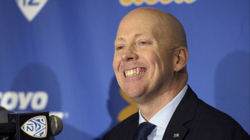 Mick Cronin is introduced as the UCLA's new head basketball coach at a news conference on the campus