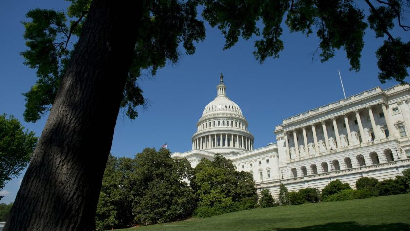 The US Capitol is seen in Washington, DC, April 28, 2017. The US Congress easily passed a one-week s