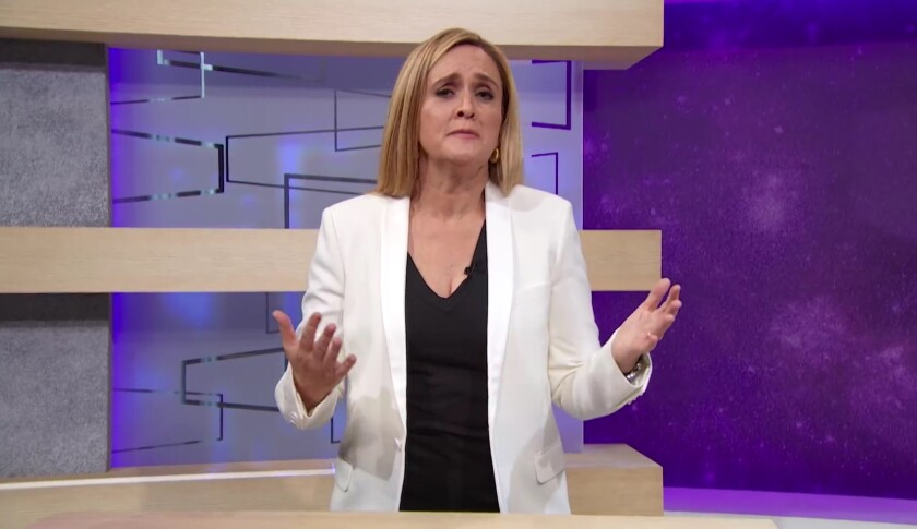 """Samantha Bee apologizing on her June 6, 2018 opening """"Full Frontal"""" monologue for using the """"C"""" word"""