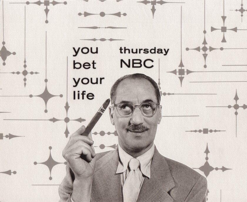 "Groucho Marx as host of ""You Bet Your Life."""