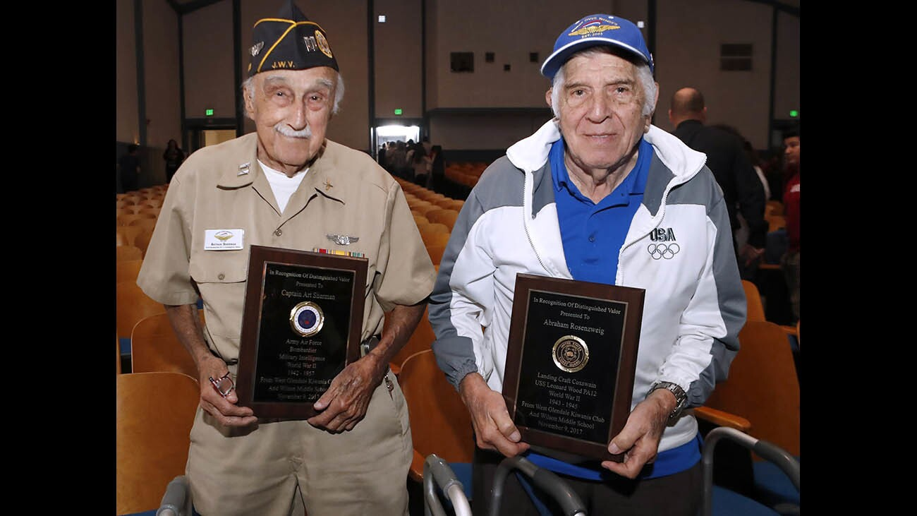 Photo Gallery: Wilson Middle School honors World War II veterans during annual Veteran's Day Assembly