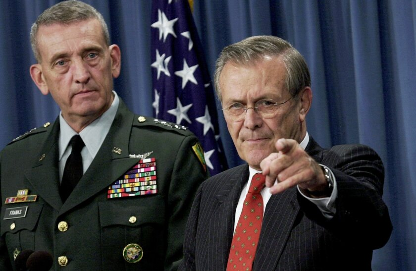 Tommy Franks, Donald Rumsfeld