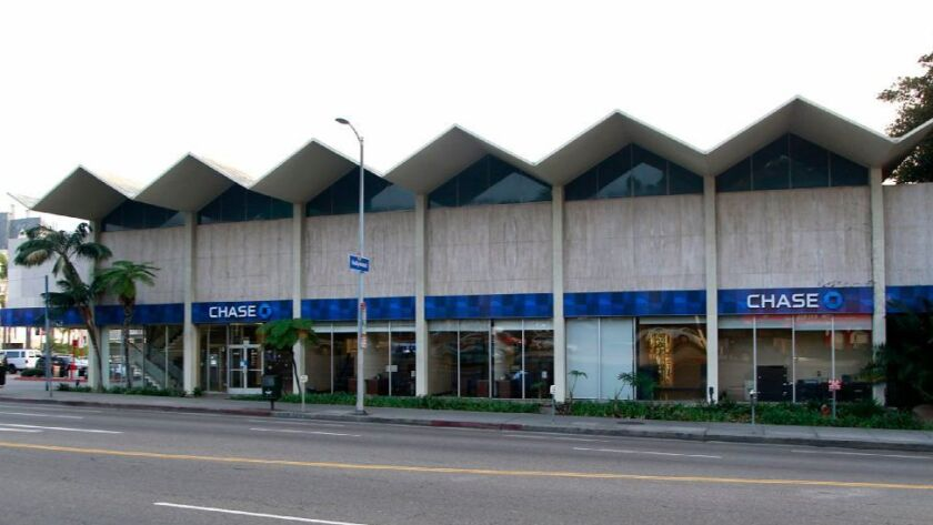 The former Lytton Savings bank at 8150 Sunset Blvd. was recently declared a Los Angeles Historic-Cultural Monument by the City Council. But developers plan to tear down the structure. The 1960s bank building is known for its zigzag roof.