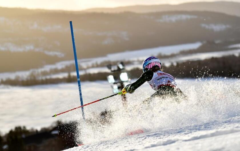La esquiadora estadounidense Mikaela Shiffrin en Are, Suecia. EFE/EPA