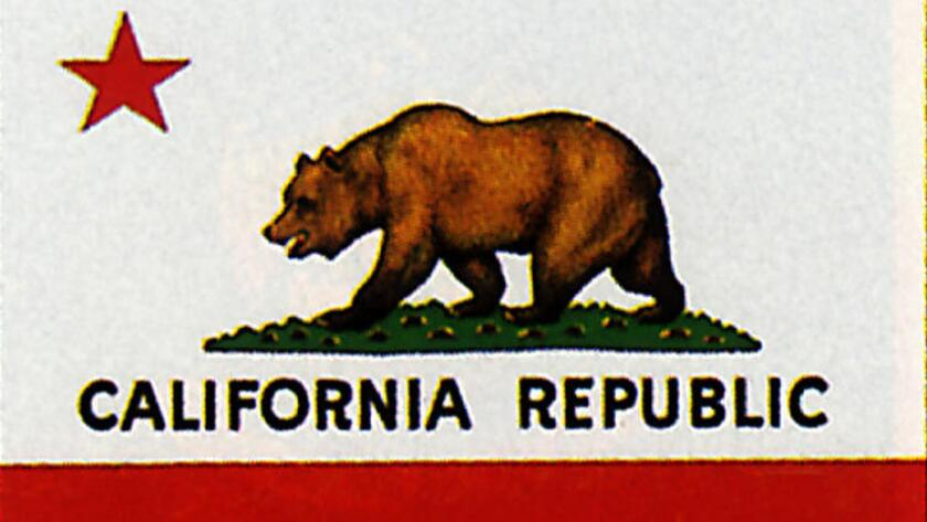 Shown is the flag of the California Republic, which in 1846 briefly declared its independence from Mexico.