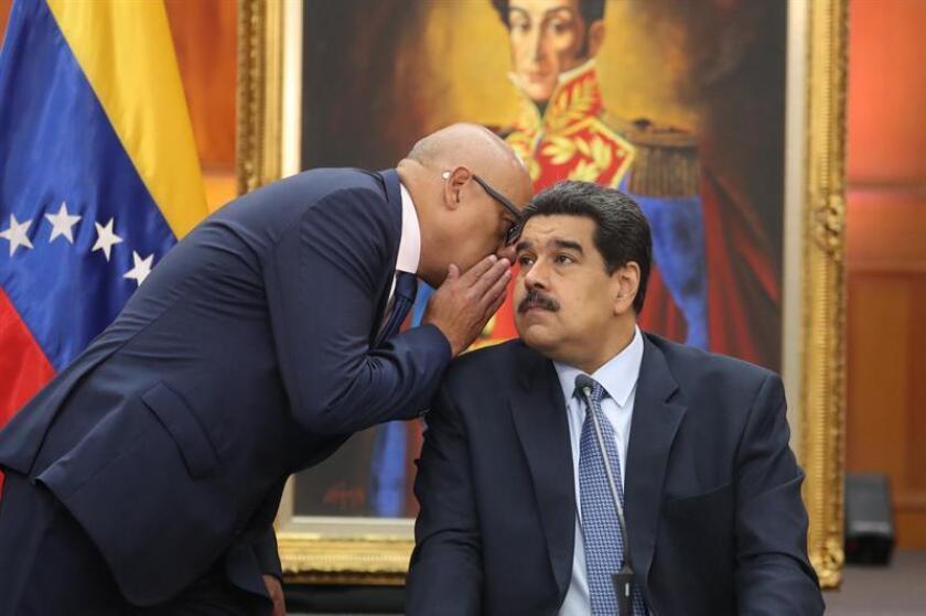 Venezuelan President Nicolas Maduro holds a press conference on Jan. 9, 2019, in Caracas. EFE-EPA/ Miguel Gutierrez