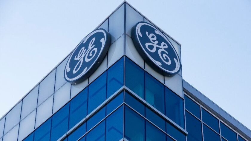 The General Electric Global Operations Center in downtown Cincinnati is seen Jan. 16, 2018. GE reported Oct. 30, 2018, that it took a $22 billion charge in its power division as it swung to a third-quarter loss that was bigger than most industry analysts had expected.