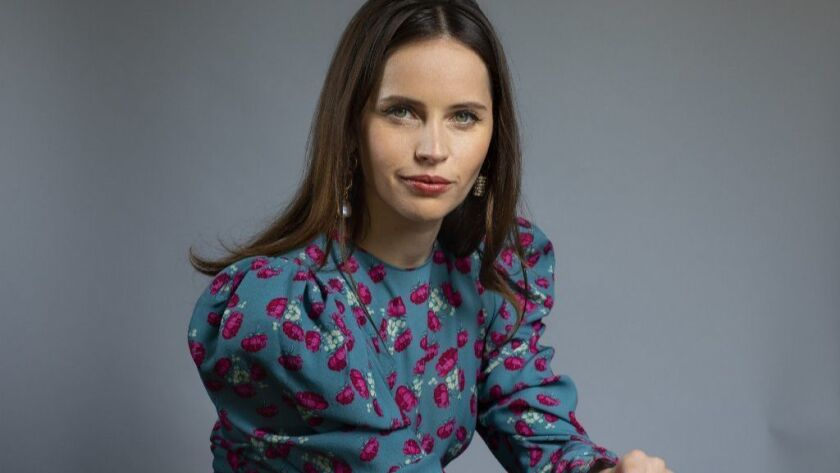 Felicity Jones On The Basis Of Sex Covers The Life Of Gender Defender Ruth Bader Ginsburg Los Angeles Times