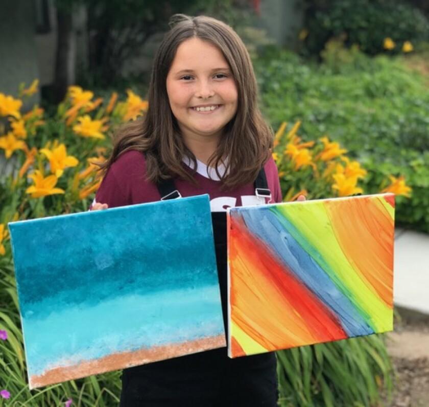 Rancho Santa Fe artist Olivia Markey.