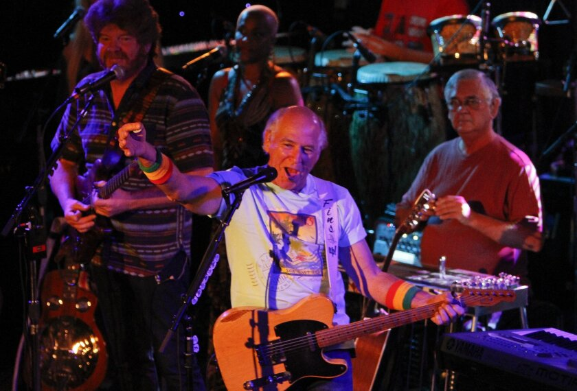 Jimmy Buffett, pictured during a 2012 concert at the Belly Up Tavern in Solana Beach.