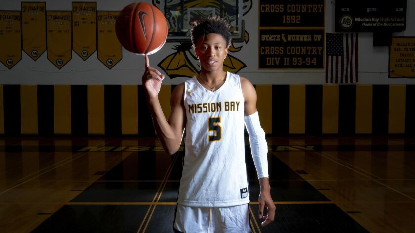 Mission Bay High School senior, Boogie Ellis.