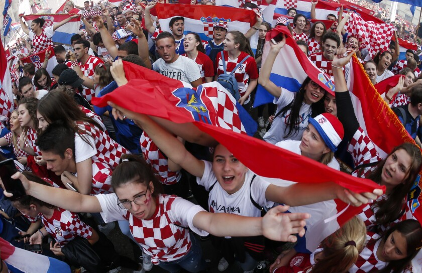 Croatia's fans reacts after the Final match on July 15, 2018 in Zagreb. This is the first time Croatia has reached the final of the Football World Cup. They take on France who are looking for their second World Cup trophy after winning it in 1998.