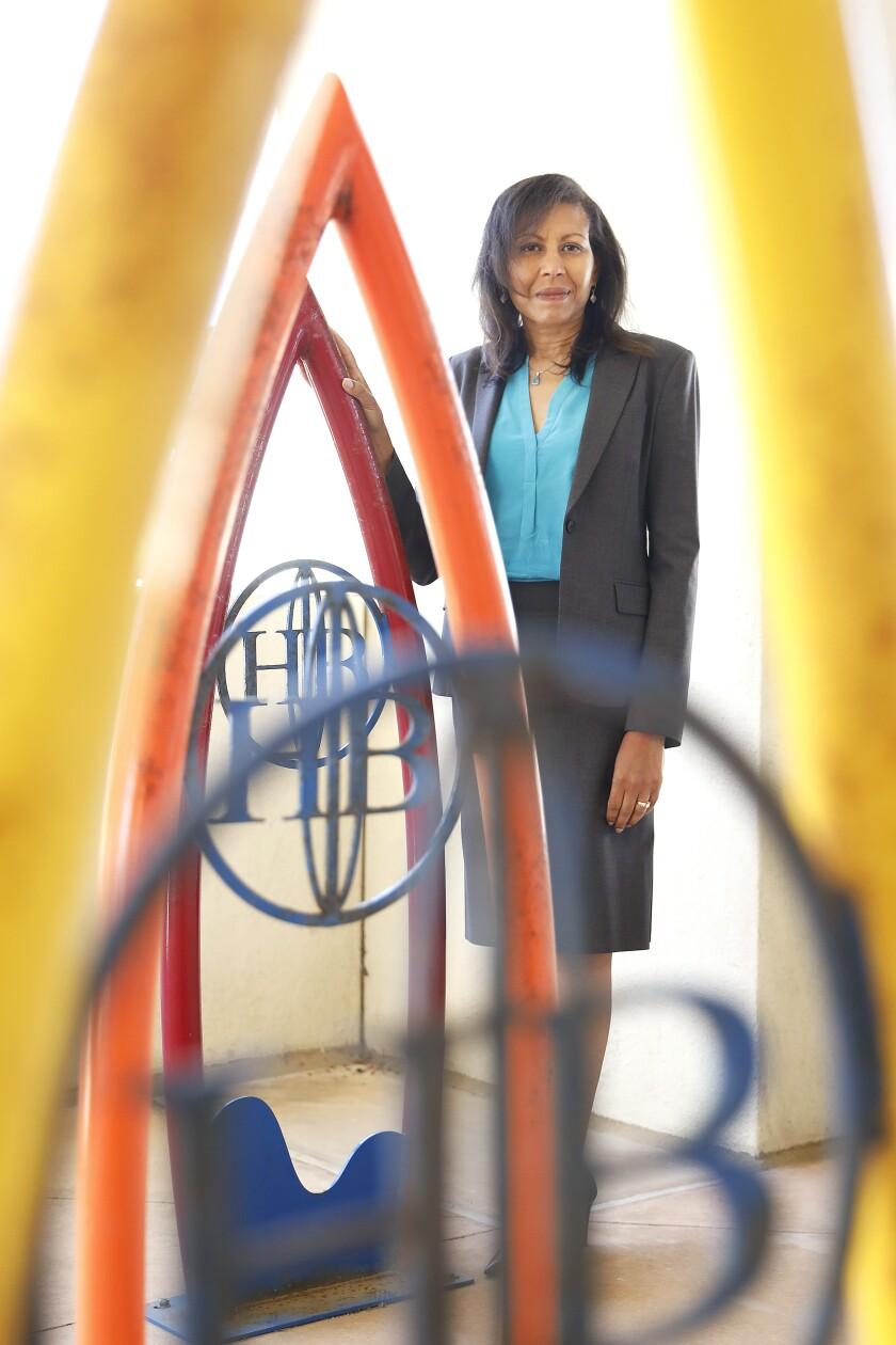 Rhonda Bolton is the first black member of Huntington Beach City Council.