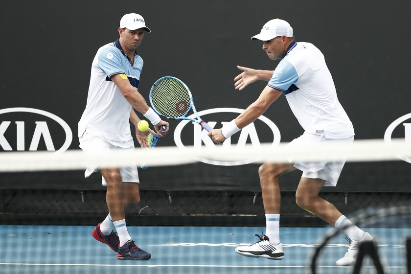 The Bryan brothers at the Australian Open in January.