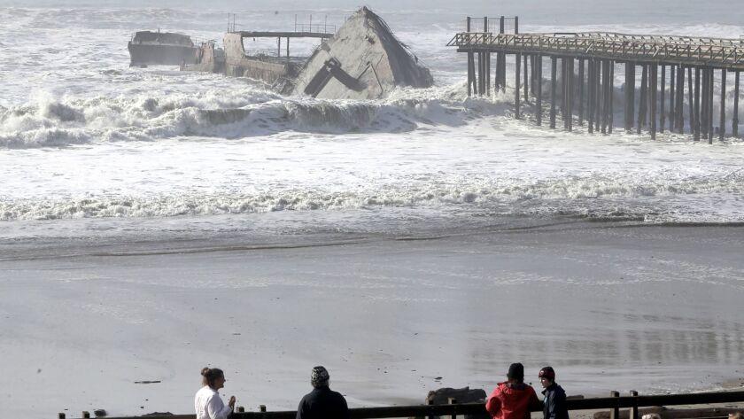 The historic World War I-era tanker Palo Alto was torn apart by massive waves.