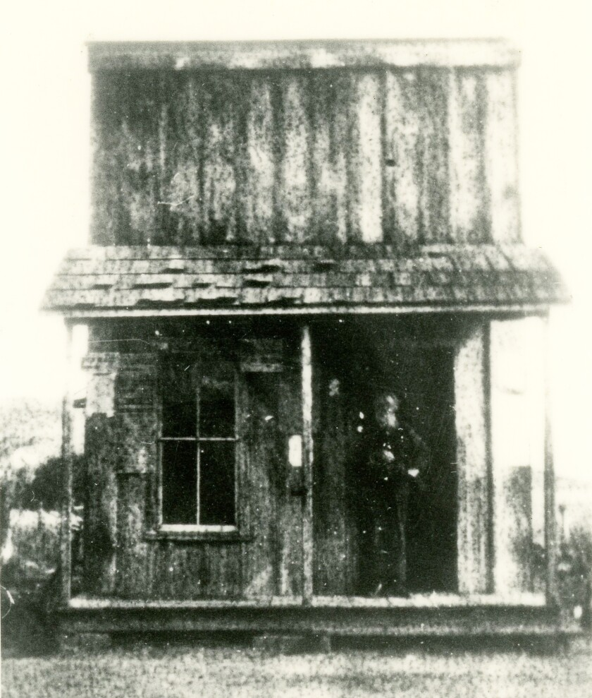 The Poway Post Office, from 1904 to 1906, on Community Road, just south of Community Church.