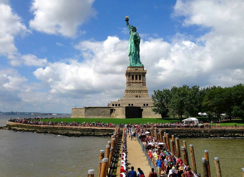 Statue Of Liberty Reopens After Sandy Damage Los Angeles Times