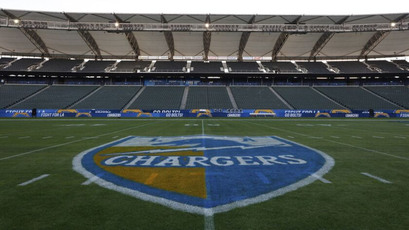 A general view of the StubHub Center prior to a week 14 NFL football game between the Los Angeles Ch