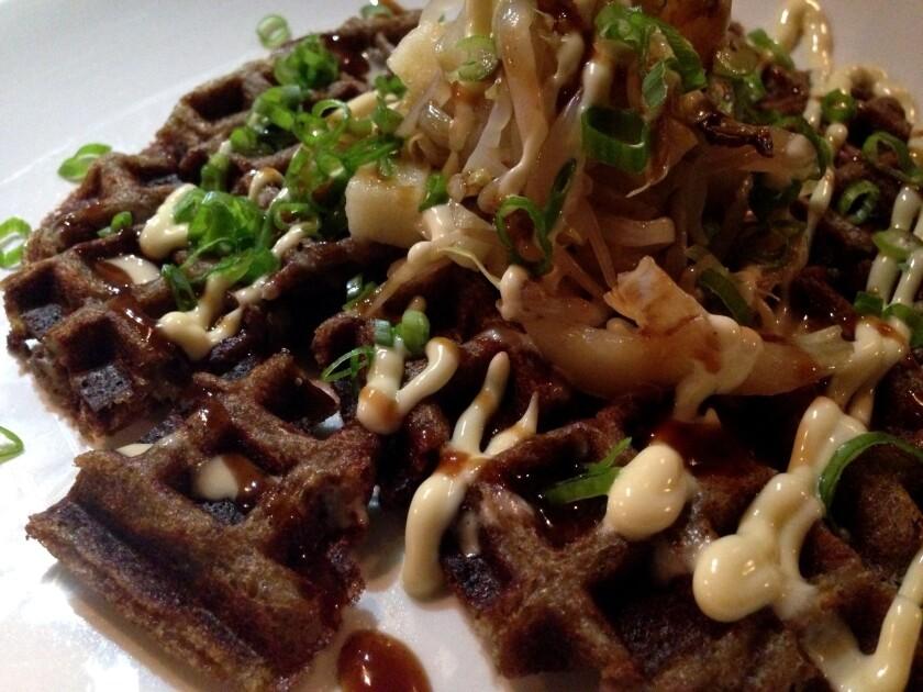 Scrapple waffle at NY's Ivan Ramen