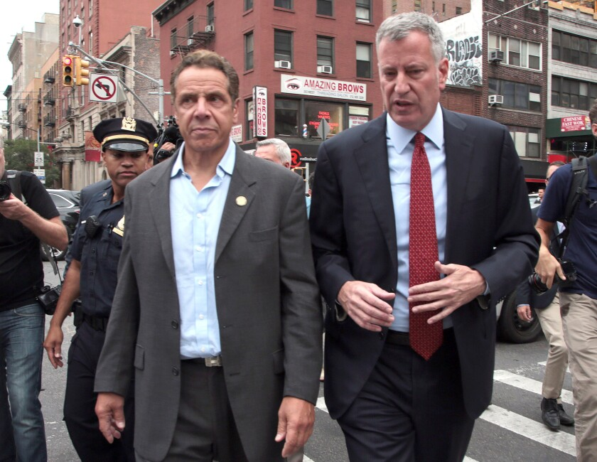 Mayor de Blasio is staying out of the governor's race. Hizzoner revealed Saturday night that he's abstaining from endorsing either Gov. Cuomo or challenger Cynthia Nixon.
