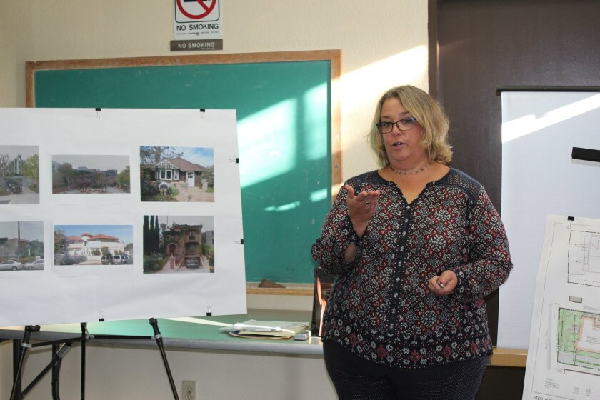 Applicant Lisa Kriedman presents the Steel Residence expansion project.