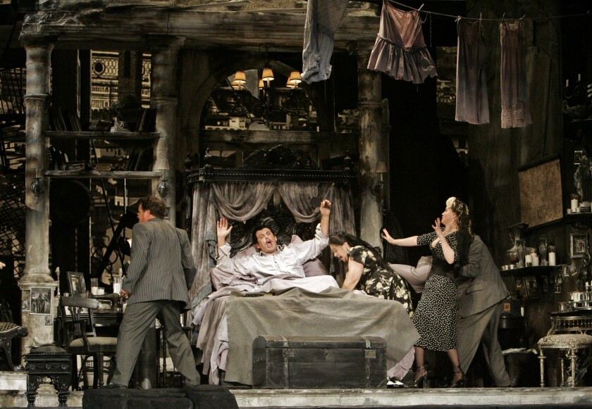 """L.A. Opera's production of """"Gianni Schicchi,"""" directed by Woody Allen, in 2008 at the Dorothy Chandler Pavilion."""