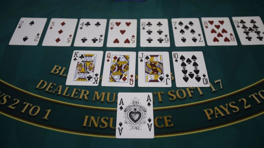 Get ready for a little math: In blackjack, numbered cards are all face value, while 10s, jacks, quee